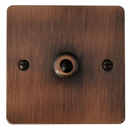 G&H FAC285 Flat Plate Antique Copper 1 Gang Intermediate Toggle Light Switch